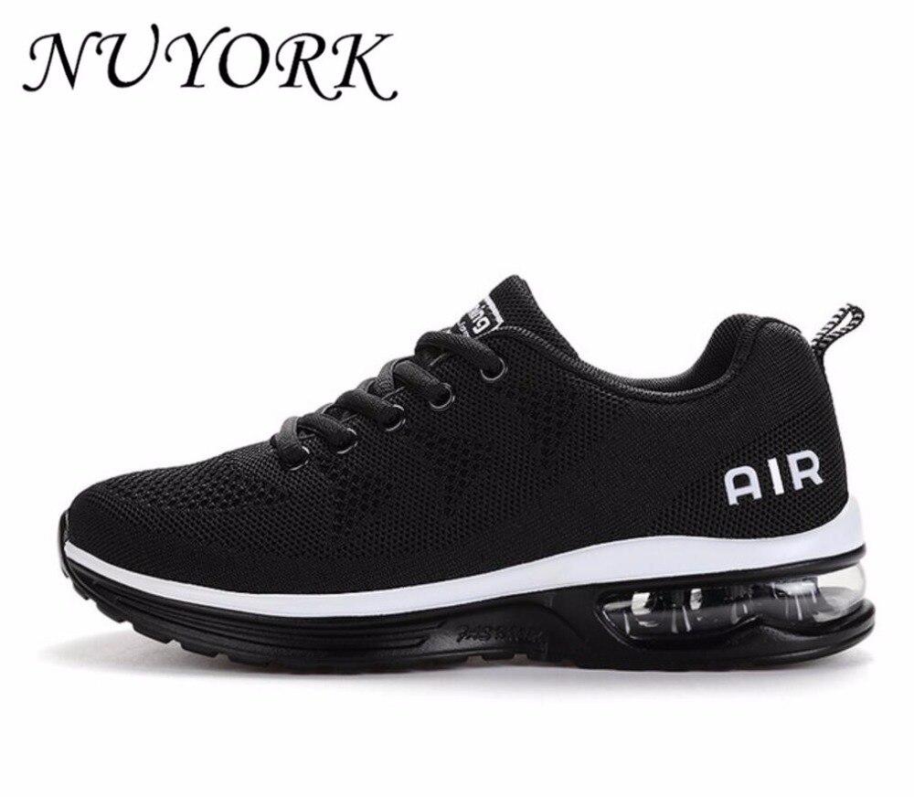 NUYORK Nouvelle Annonce Chaude ventes Respirant Mouche ligne air hommes et femmes chaussures de course sneakers lovers chaussures de sport 835