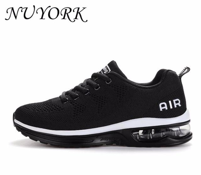 NUYORK Voar linha de Listagem do Novo Hot vendas Respirável amantes de homens e mulheres que executam calça as sapatilhas calçados esportivos de ar 835