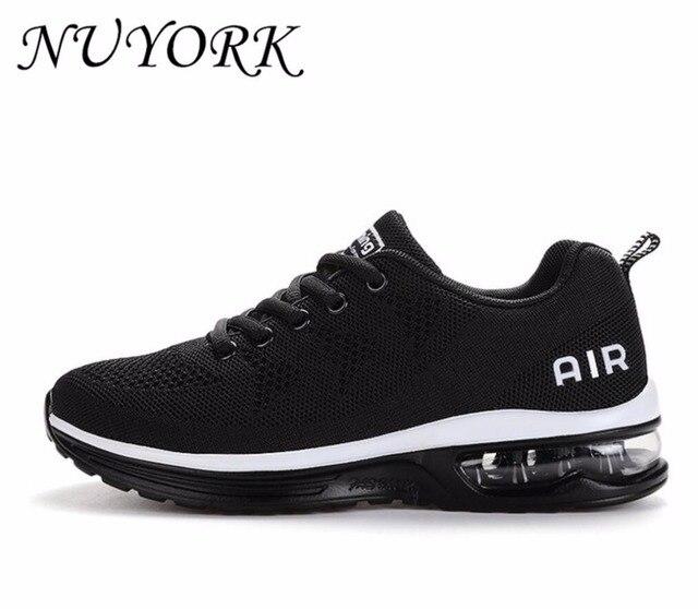 Nuyork nova listagem de vendas quentes respirável voar linha air homens e mulheres tênis de corrida amantes sapatos esportivos 835