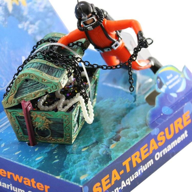 Decoration Plongeur Pour Aquarium