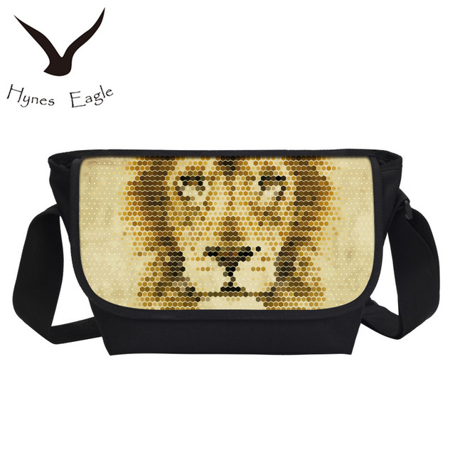 fb35b25adc Hynes Eagle Women fashion Tiger Figure Messenger Bags Satchel School  Military Shoulder Bag Travel Handbag Casual Crossbody Bag
