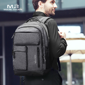 Image 2 - Mark Ryden Man Backpack Multi layer Space 15.6 inch Laptop USB Recharging Travel Male Bag Anti thief Mochila