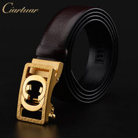 Ciartuar Brand Belt Men Top Quality Genuine Luxury Genuine Leather Belt For Men Strap Metal Automatic