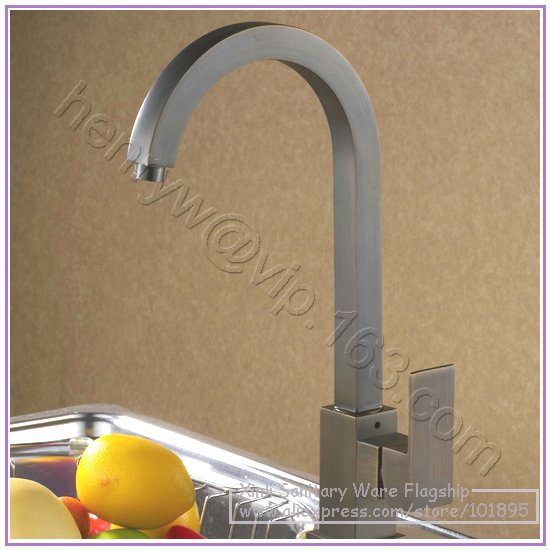 L16632 - Luxury Deck Mounted Bronze Color Brass Material Hot & Cold Water Basin Mixer цены