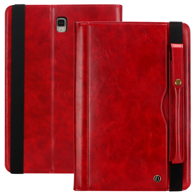 Voor Samsung Tab S4 T830 Retro Boek Leather Case Wallet Card Stand Smart Cover voor Samsung Galaxy Tab 10.5 T835 met Pen Slot