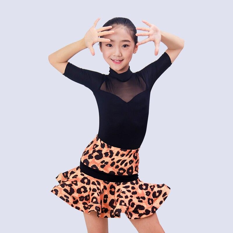 Latin Dance Costume For Girls Latin Practice Dress Kids Rumba Clothes Professional Tango Performance Outfit Samba Wear DQL1346