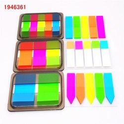 Флуоресцентный цветной самоклеющийся блокнот для заметок, клейкая закладка для заметок, маркер, стикер для заметок, бумага для офиса, школь...