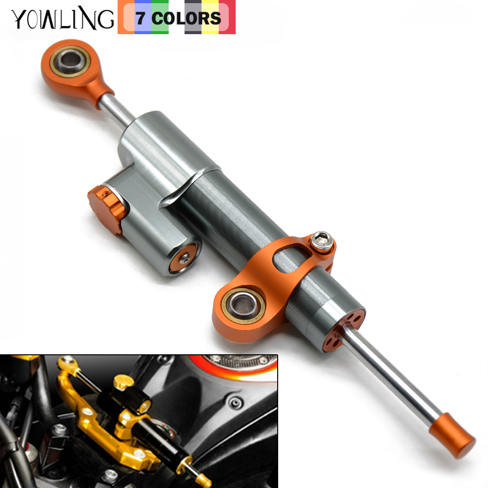 MT07 MT09 YZF R3 R6 CNC Damper Steering StabilizerLinear Reversed Safety Control MT 09 MT 07 Bike for KTM for Kawasaki Z250 Z800
