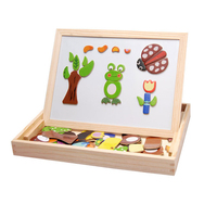 2017 Wooden Multifunction Children Animal Puzzle Writing Magnetic Drawing Board Blackboard Learning Education Toys For Kids