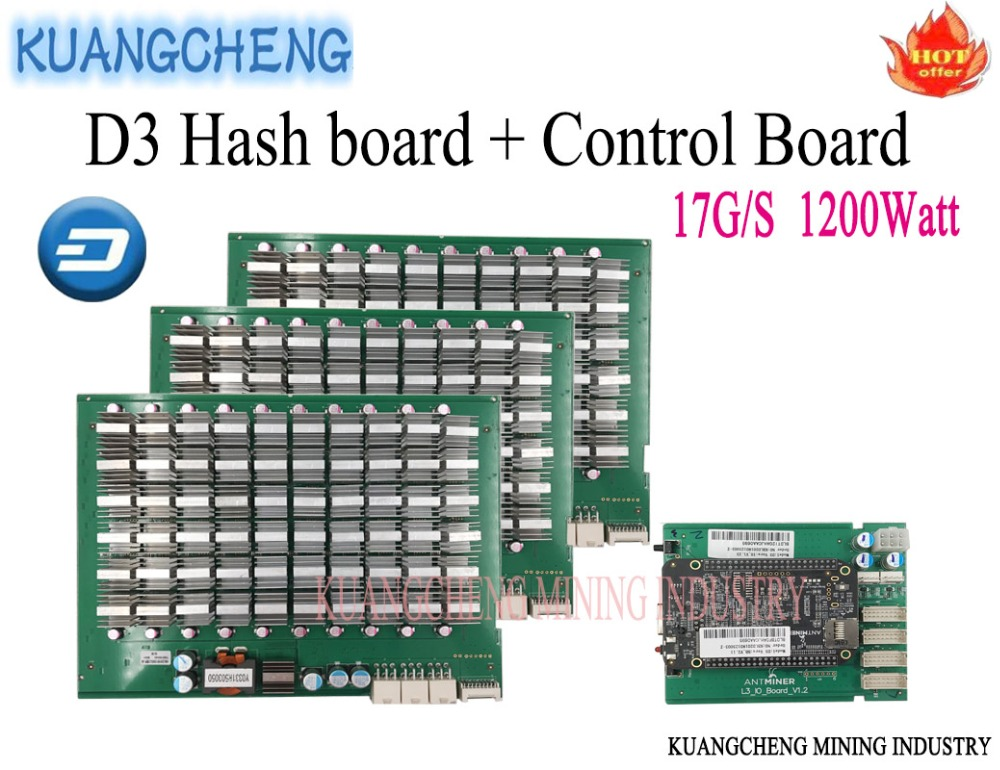 Free shipping!ANTMINER D3 Control Board Include IO Board And BB Board and hash board 17G/S 1200W For ANTMINER D3 DASH B2X Miner цены