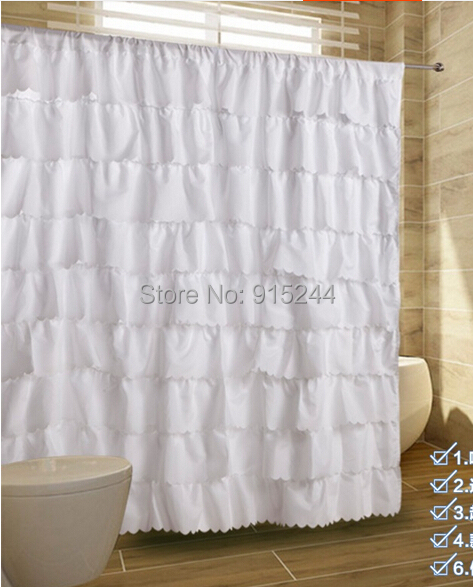 multi white pink fashion polyster waterproof curtains bathroom ...