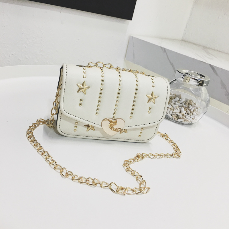 8da5d3cf30e4 Children Mini Satchel Bag 2018 Rivet Crossbody Shoulder Bags Kids Girls  Princess Handbags small party handbag