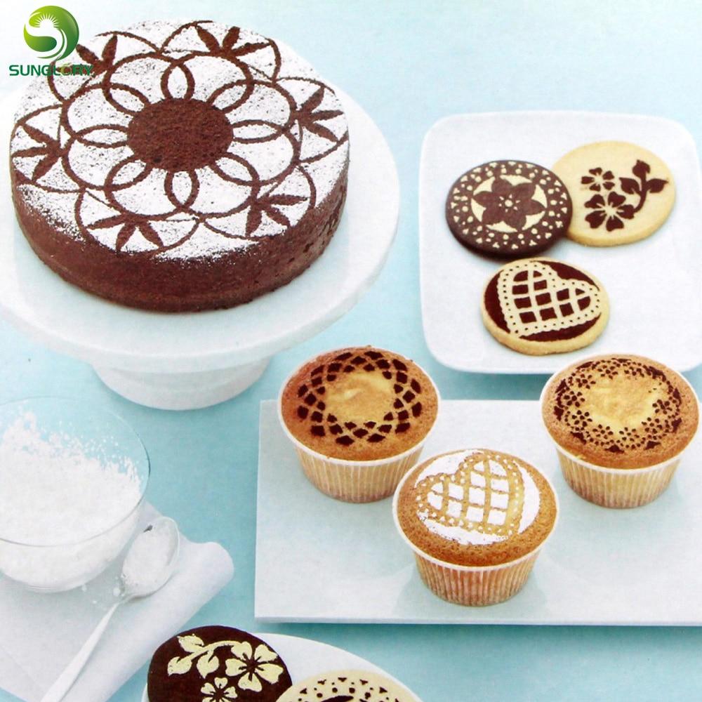 ᐂ8 unids flor corazón mariposa cake stencil Decoración Cocina ...