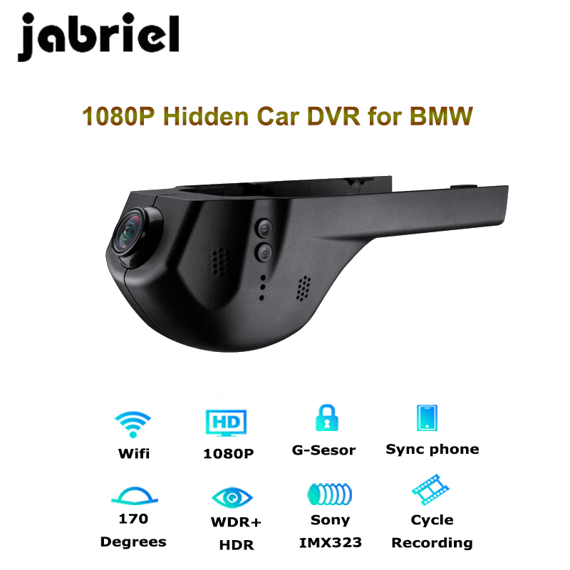 Jabriel 1080P Wifi Hidden car recorder dvr dash cam Rearview camera for bmw 1,2,3,5,7 Series,X1/X3/X5/X6 E46 E90 F30 E39 E60 F10 цена