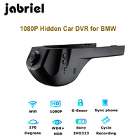 Jabriel 1080P Wifi Hidden car recorder dvr dash cam Rearview camera for bmw 1,2,3,5,7 Series,X1/X3/X5/X6 E46 E90 F30 E39 E60 F10