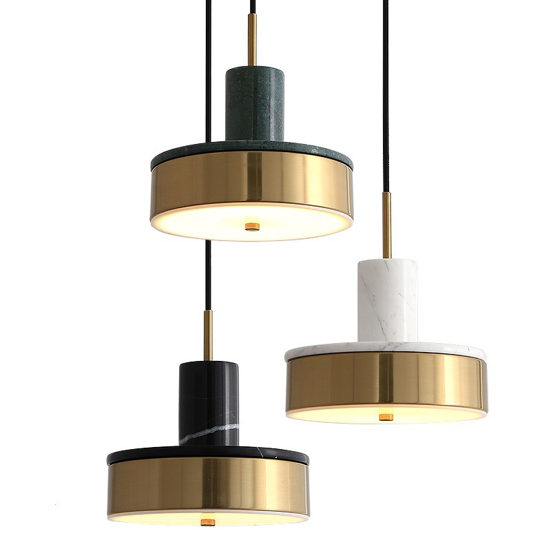 Modern Pendant Lamp Nordic Marble LED Pendant Light Dining Room Living Room Bedroom Bedside Hanglamp Home Decor Light Fixstures
