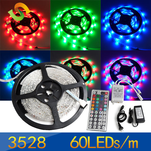 10%off, SMD 3528 led Strip light Lamp RGB with 44key Controller+30W powesupply  DHL/FedEX  free shipping