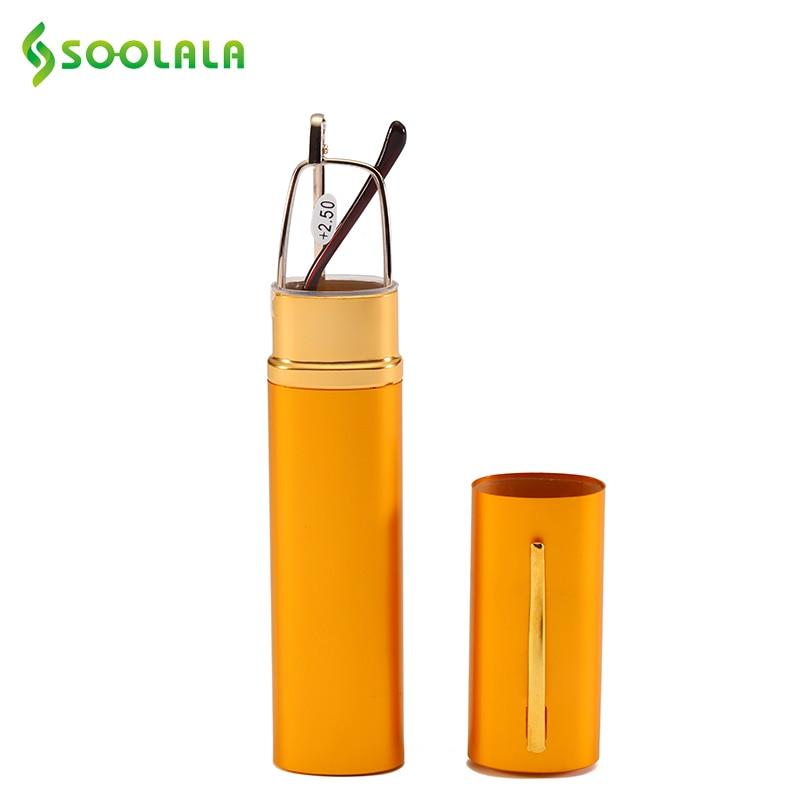 SOOLALA Merk Mini Vouwen Leesbril Frame Legering Draagbare Container - Kledingaccessoires - Foto 4