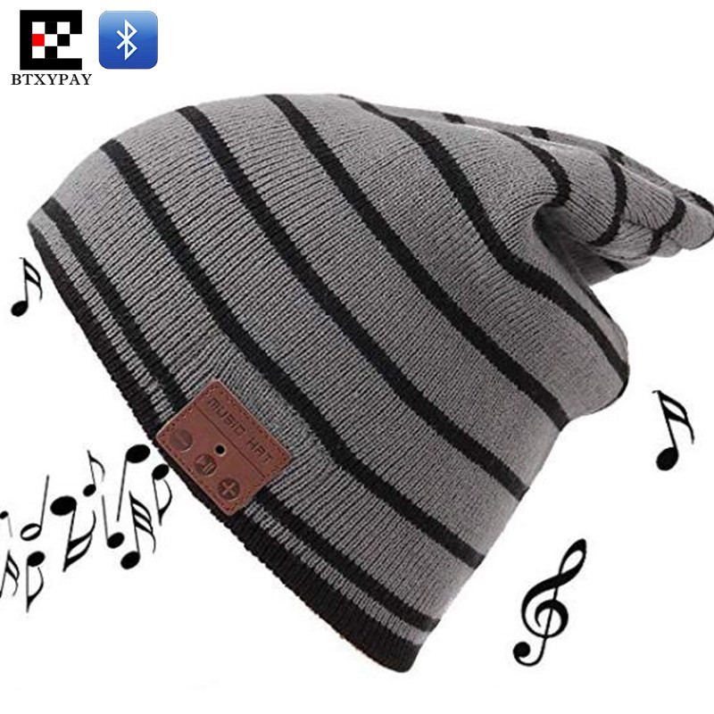Unisex Winter Warm High Elastic Wireless Beanie Knitted Hat Hand-free Headset Speaker Mic Stereo Magic Music Smart Bluetooth Cap