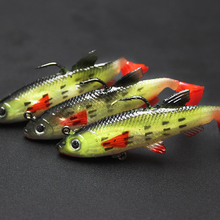 5pcs/lot 8cm 14g Lead weight Fishing Lure Artificial Bionics Soft bait Carp lures with Treble Tackle Hooks pesca Fast shipping