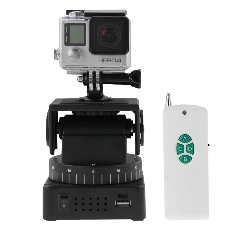 Prix pour Yt-260 1/4 ''screw télécommande motorisé pan tilt pour gopro hd xiaomi yi dslr caméras d'action accessoires universel