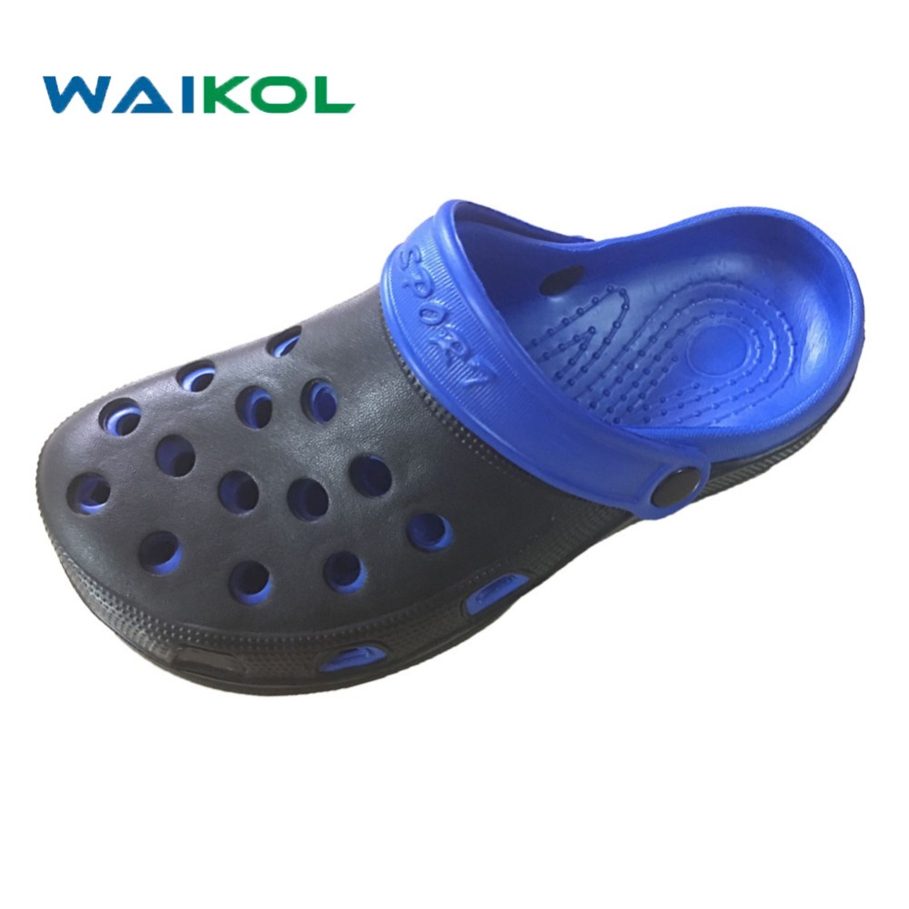 Waikol Men Shoes Summer new heavy-bottomed hole shoes breathable male casual outdoor sandals fashion sandals bathroom slippers women slippers wholesale fashion lovers hole shoes garden nest female models sport sandals hole sandals