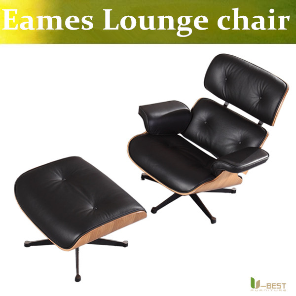 U-BEST charles emes lounge chair and ottoman Midcentury Modern Solid Walnut Lounge Chair massage relax chair healthy arm chair  цены