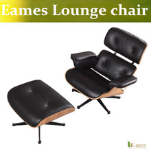 U-BEST charles emes lounge chair and ottoman Midcentury Modern Solid Walnut Lounge Chair massage relax chair healthy arm chair