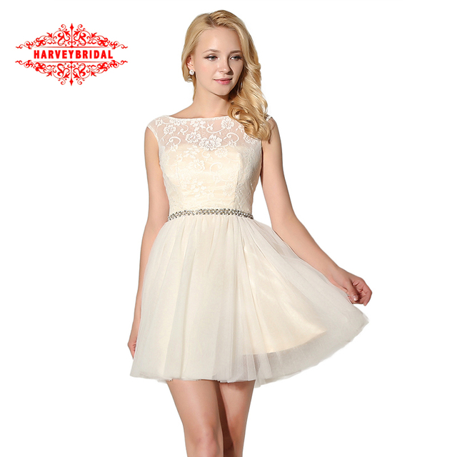 Luxury Crystal Short Homecoming Dresses White Graduation Dresses