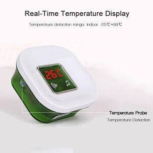 Image 2 - 220 فولت مقاوم للماء لاسلكي كهربائي دينغ دونغ جرس الباب مع درجة الحرارة شاشة ديجيتال زر الجرس الكبير