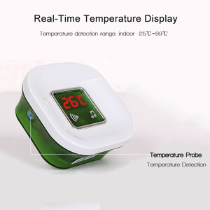 Image 2 - 220V Senza Fili Impermeabile Elettrico Ding Dong Campanello Della Porta con la Temperatura Display Digitale Grande Pulsante del Campanello