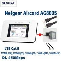 Netgear Aircard AC800S Cat9 450Mbps Portable 4G LTE WiFi Hotspot Support B1 B3 B7 B8 B28 B38 B40