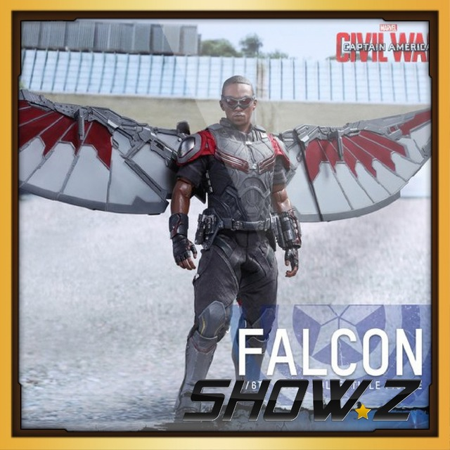 SHOW.Z [Add Order]HT HOT TOYS Captain America: Civil War - 1/6th scale Falcon MMS361 Collectible Figure