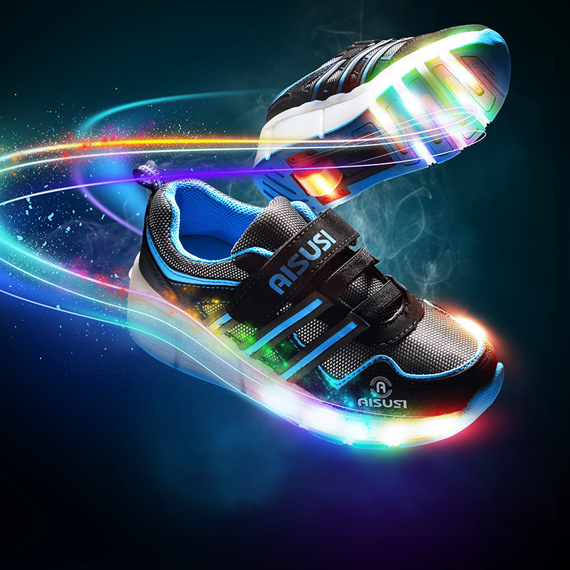 2017 New Style LED Flashing Light Walking Shoes Single Round Summer Raft Roller Skates Fashion Shoes with Wheels children roller sneaker with one wheel led lighted flashing roller skates kids boy girl shoes zapatillas con ruedas