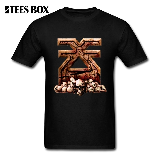 Tee Shirts Khorne Flakes War Hammer Fantasy Men's Natural Cotton ...
