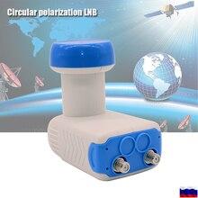 Hdデジタル円形lnb衛星受信機ノイズ 0.3dB利得 60dB lnbf