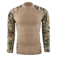 Camouflage Army T Shirt Men US RU Soldiers Combat Tactical T Shirt Military Force Multicam Camo Long Sleeve T Shirts Riverdale