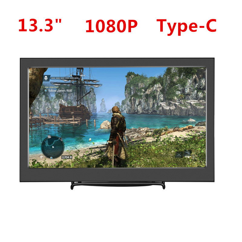 13 3 Portable Computer Monitor 1080P HD 1920x1080 IPS PS3 PS4 Xbox360 Type C USB C