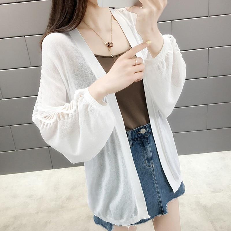 2019 Summer Kimono Cardigan Boho Beach Shirts Women V neck Long Sleeve Thin Blouse Sunscreen Lady Clothing Blusas in Blouses amp Shirts from Women 39 s Clothing