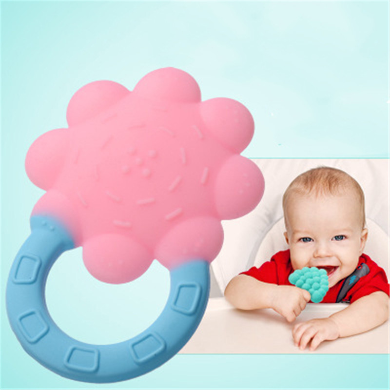Baby Teether Cartoon Transparent Teething Nursing Silicone DIY Necklace Chewable
