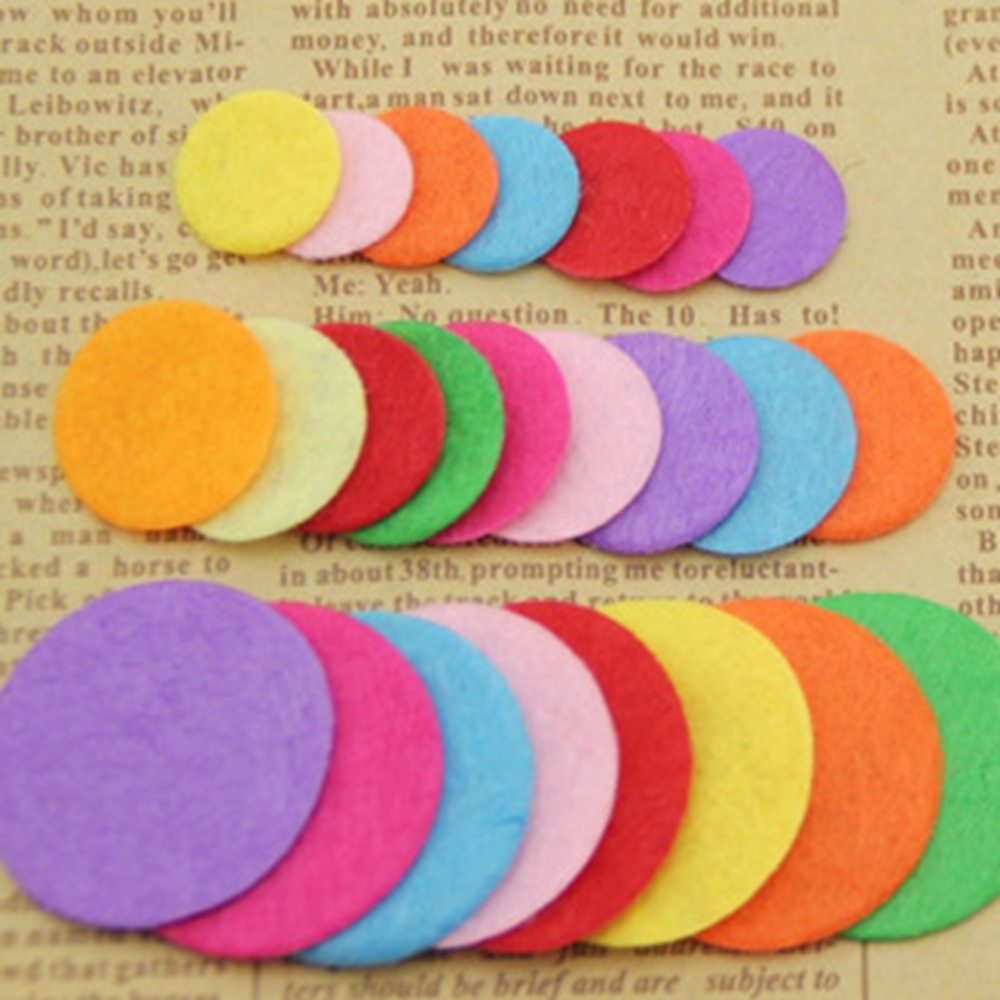 200pcs Artificial Non Woven Felt Fabric Round Felt Eco-Friendly Cloth Felts DIY Bundle For Sewing Dolls Scrapbook Patches Crafts
