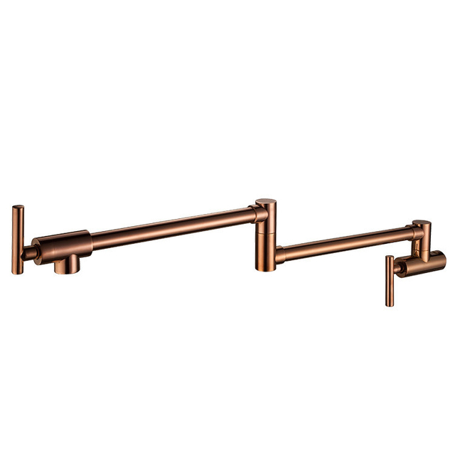 Wall Mounted Brass single cold Pot Filler faucet tap Double Joint ...