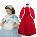 Crianças Vestidos de Festa de Meninas Cinderella Vestidos de Casamento Da Menina de Flor Vestido de Princesa Dos Desenhos Animados Meninas Traje Neve Roupas Chrismas Vestido