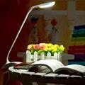LED Book Light Touch Dimmable Офтальмологической помощи Чтение Свет 1.5 Вт Clip-on Настольная Лампа Гибкая Студент USB пополнения Настольная Лампа MUMENG