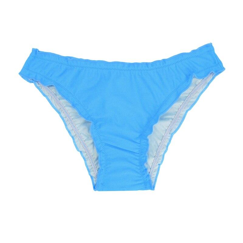 Женский купальник с низкой талией бикини снизу микро Chiffons печати двух частей отделяет плавки сексуальные купальник женский летний B607 - Цвет: B607G