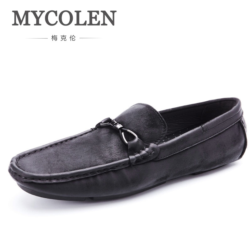 MYCOLEN Man Shoes Luxury Fashion Handmade Casual Male Shoes Breathable Men Loafers Slip-On Driving Slip-On Boat Shoes Men mycolen mens loafers genuine leather italian luxury crocodile pattern autumn shoes men slip on casual business shoes for male
