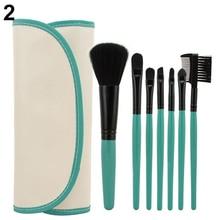 2016 7Pcs Professional Cosmetic Makeup Brush Tool Powder Blush Eyelash Brow Concealer Lip Brushes Kit Set