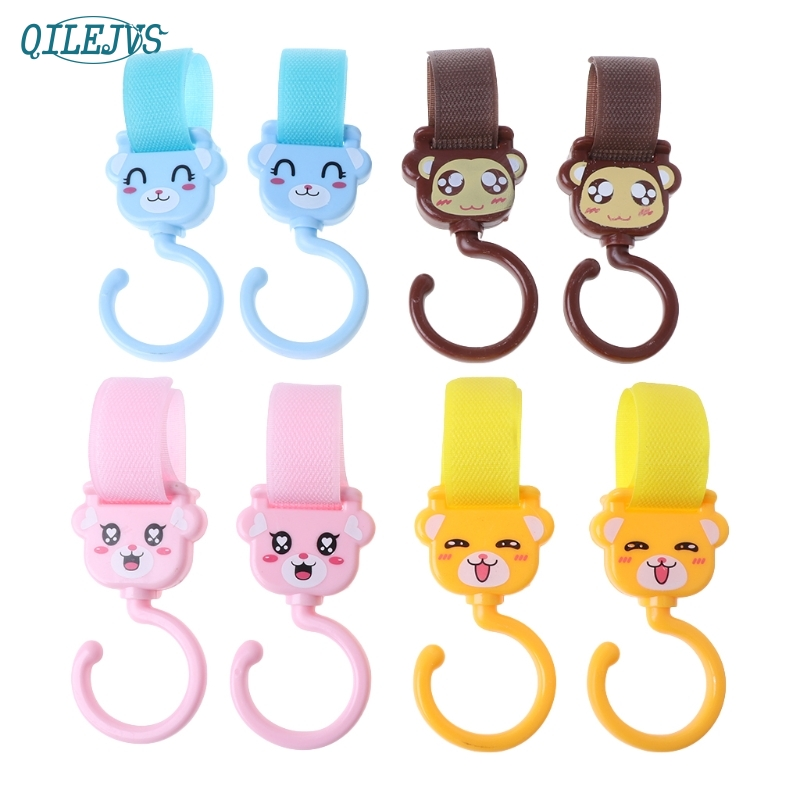 Hot Sale 2 Pcs Baby Stroller Hook Cute Cartoon Spin Accessories Multi Functional #330