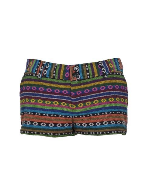 Fashion single san souci national trend multicolour blending knitted cotton four seasons low-waist woman short summer short sale