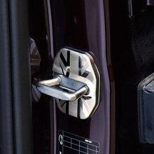 1 пара Нержавеющая сталь Антикоррозийная Автомобильный Дверной замок защитный крышку пряжки для MINI COOPER, Countryman, F60 аксессуары для интерьера
